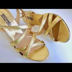 NEW 6.5 MICHAEL KORS Evening Wedding Stiletto Gold